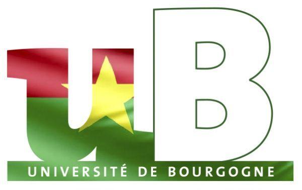 Logo université de bourgogne aux couleurs du Burkina