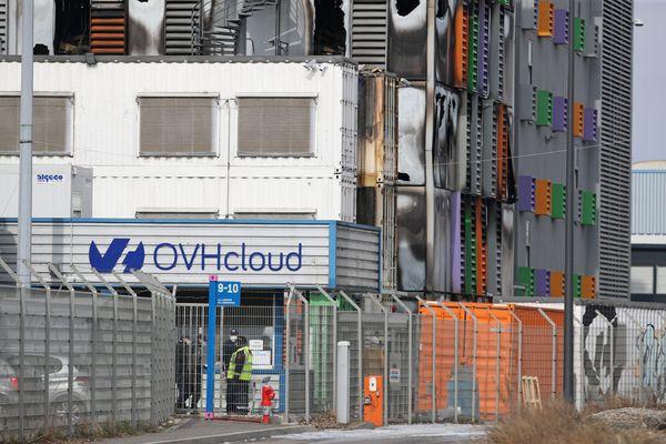 Le site OVH Cloud de Strasbourg après l'incendie