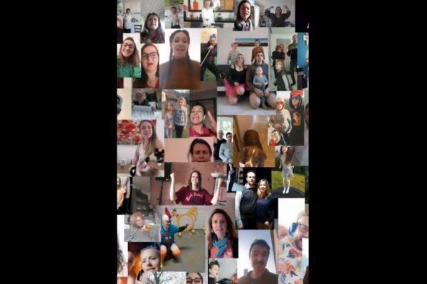 La vidéo rassemble au total 69 anonymes qui ont répondu à l'appel de Solène Pugnet, sur les réseaux sociaux.