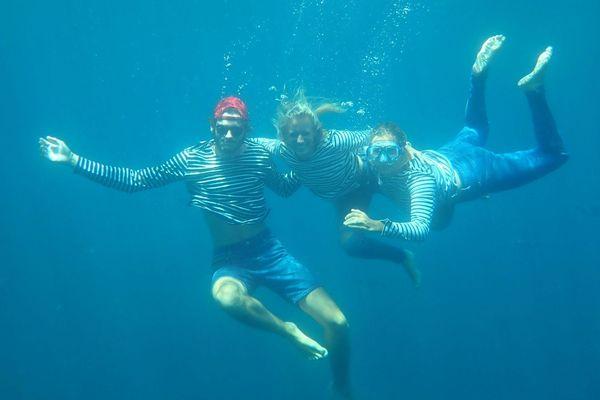 Derrière l'expédition SEA Plastics, trois étudiants,  Cléa Abello, Benjamin Pannetier et Cosme Mosneron-Dupin.