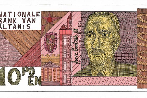 La monnaie de L'Altanis, le pays imaginaire dessiné par Pablo Raison.