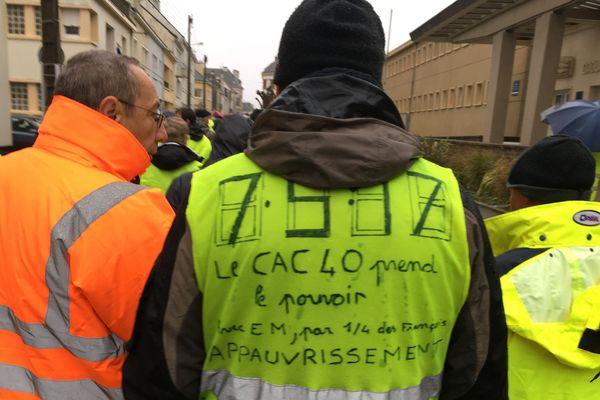 Manif des Gilets jaunes à Saint-Nazaire le 15 décembre 2018