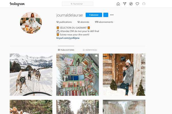 Les faux profils Instagram comme celui-ci reprenant le nom et les photos de celui de Laura Andrieu se multiplient depuis plusieurs semaines.