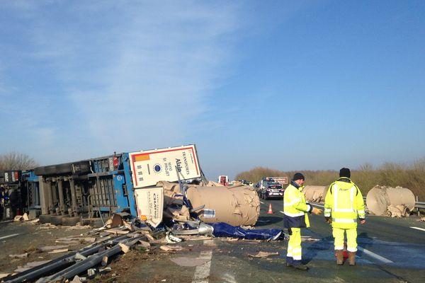 L'A83 rouverte à la circulation après l'accident impliquant un poids-lourd et quatre voitures le 10 février 2017
