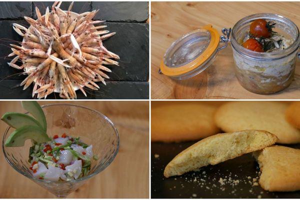 Langoustine, volaille, ceviche et petits sablés, à déguster !