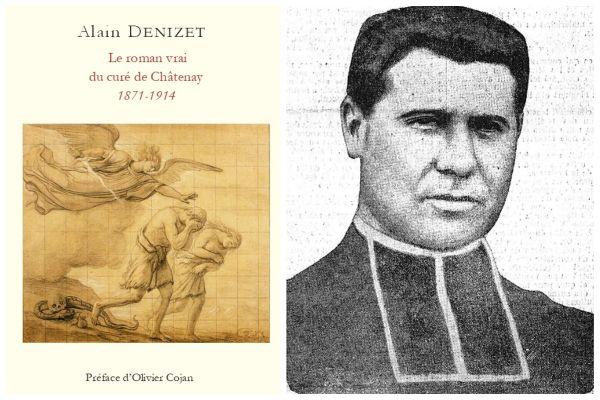 """Dans son livre """"Le roman vrai du curé de Châtenay, 1871-1914"""" (à gauche), Alain Denizet raconte notamment que le journal Le Matin avait publié un portrait du curé disparu (à dr.) et proposait une récompense à quiconque le trouverait."""
