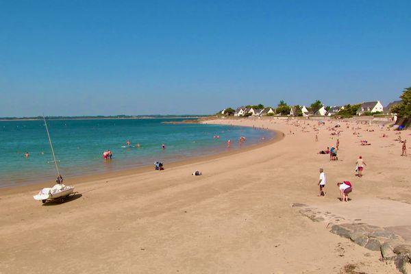 La plage de Sorlock à Mesquer en Loire-Atlantique