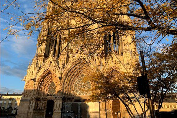 La cathédrale de Reims. Une manifestation de catholiques demandant le retour de la messe est prévu ce dimanche 15 novembre.