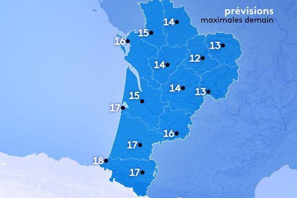 Météo France annonce de 12 à 18°.