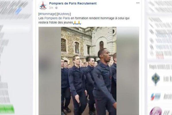 Capture d'écran de la page Facebook des Pompiers de Paris, le 6 décembre 2017.