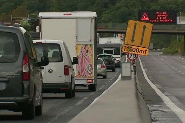 Des bouchons sur l'A47 à hauteur de La Grand-Croix : des mesures de restrictions ont été prises ...