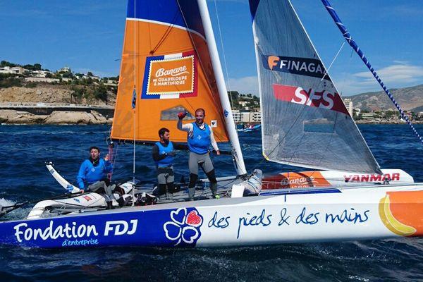 L'équipage de Fondation FDJ-Des pieds et des mains, remporte le tour de France à la voile 2017