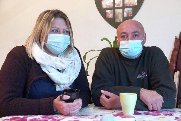 Lodève (Hérault) - ce couple a dû fermer son commerce à cause de la crise sanitaire - novembre 2020.