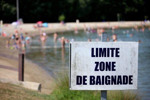 La plage de Brognard où un jeune homme de nationalité étrangère est mort noyé, mardi 11 août dernier.