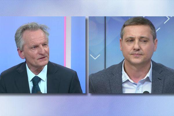 Face au maire sortant Guy Ferez (DVG), le candidat LR Créscent Marault