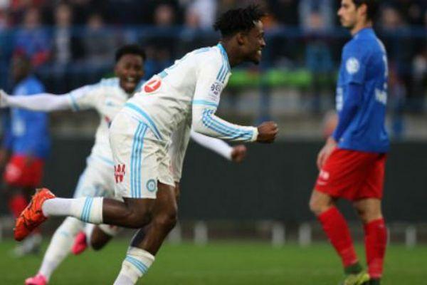 La joie de Michy Batshuayi après avoir marqué face à Caen.