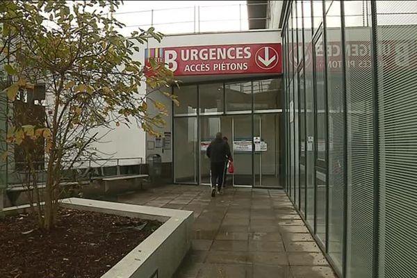 L'entrée des urgences du CHU de Rennes