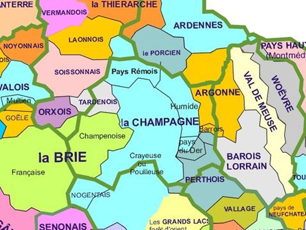 A Quoi Ressemble La Carte De La Champagne Ardenne En Region Naturelle