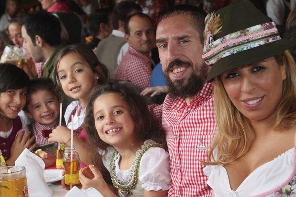Franck Ribéry et sa famille ont posé pour les photographes à l'Oktoberfest.