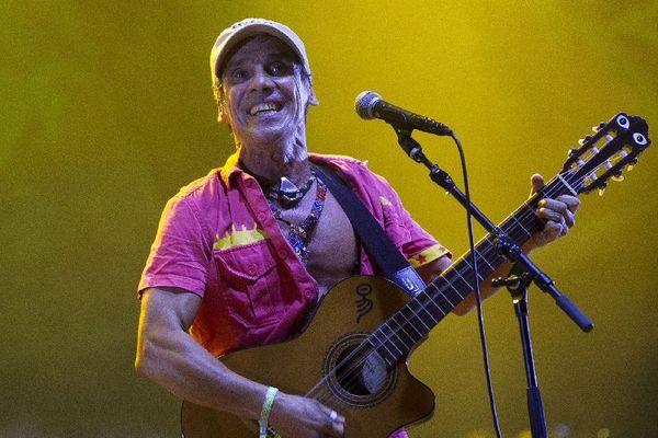 Manu Chao, sur la scène du Rototom Sunsplash Reggae Festival en Espagne en août 2016, assure l'ouverture des Vieilles Charrues 2017