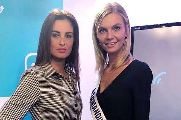 Malika Ménard, Miss France 2010 et Anaëlle Chrétien, Miss Normandie 2018