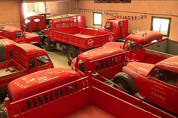 André Bonifay possède une collection d'une trentaine de camions des années 1950 à 1970