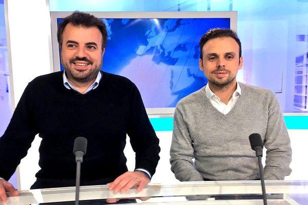 Carlos Diaz et Manuel Diaz sur le plateau de France 3 Limousin