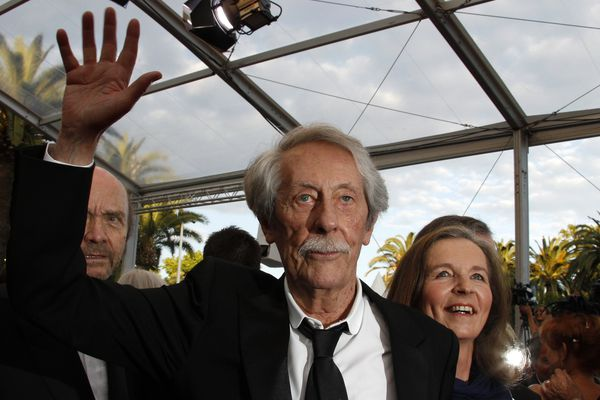 Jean Rochefort, sur le tapis rouge de Cannes en 2011.