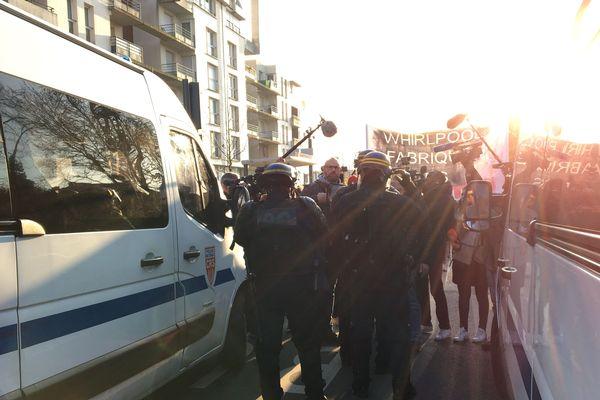Le cortège n'a pas pu avancer vers la Citadelle d'Amiens jeudi 21 novembre 2019