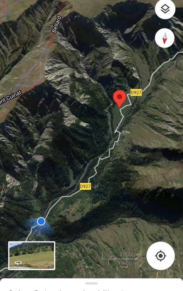 Localisation du site de l'accident mortel
