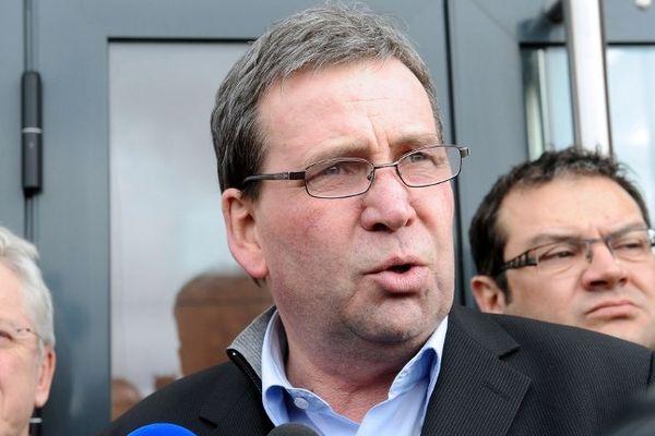 Castelnaudary (Aude) - Barthélémy Aguerre président de l'entreprise Spanghero - 11 février 2013.