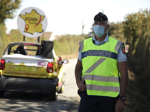 Patrick Audissou, gendarme réserviste sur le parcours du Tour de France 2020