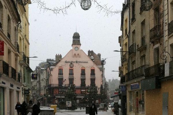 La neige tombe sur Dieppe !