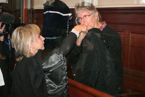 Jacqueline Sauvage, le 3 décembre 2015, lors de son procès en appel aux assises de Blois.