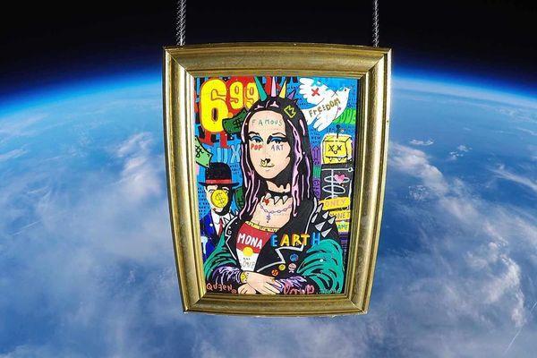 """La """"Punk Mona"""" de Jisbar a fait un passage éclair dans la stratosphère."""