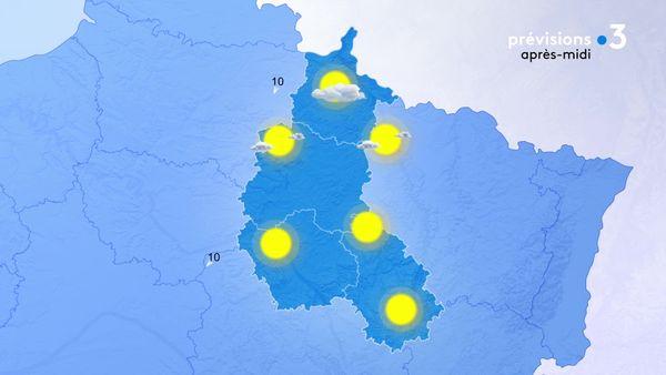 Le soleil domine sur la Chapagne-Ardenne