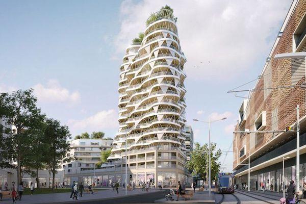Montpellier : la tour Higher Roch culminera à 50 mètres près de la gare Saint-Roch et sera terminée fin 2020.