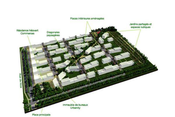 Maquette de l'éco-quartier Réma-Vert