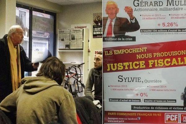 Le fondateur d'Auchan est venu se plaindre d'une affiche du PCF qui le met en scène