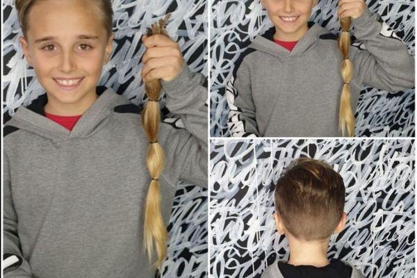 Jeudi 13 février, Evann a enfin rendez-vous avec une paire de ciseaux et toujours la même envie de faire don de ses cheveux pour la fabrication d'une perruque à destination d'une personne soignée pour un cancer.