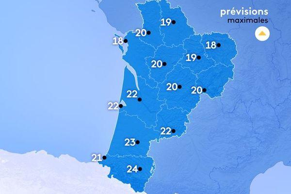 Météo France annonce de 18 à 24° au coeur de la journée