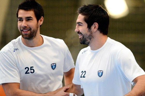 Luka et Nikola Karabatic pendant le match contre Paris le 30 septembre 2012