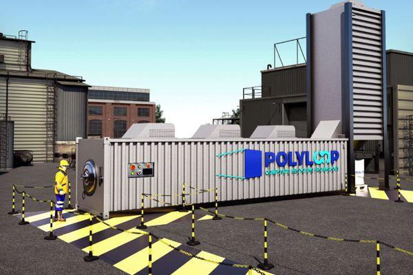 Tout le procédé de Polyloop est inclus dans un conteneur