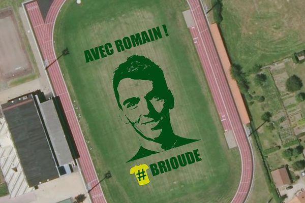 Tour de France. La ville de Brioude fait réaliser une oeuvre land art, visible du ciel, à l'effigie de Romain Bardet.