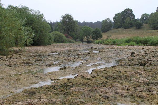 En 2018, le Doubs était presque à sec entre Morteau et Pontarlier