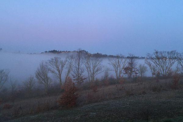 Les températures au lever du jour sont comprises entre 0 et 8 degrés ce 12 février.