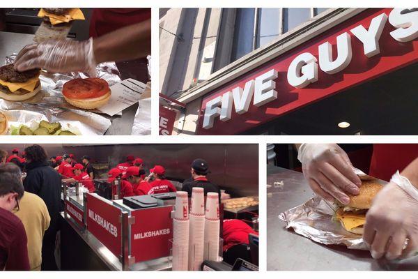 """L'enseigne """"Five Guys"""" a ouvert un nouveau restaurant dans le centre-ville de Lille."""