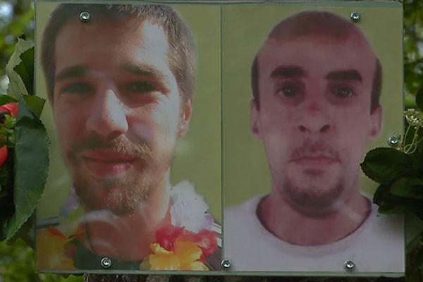 Jean-Christophe Morin(à gauche) et Ahmed Hamadou ont disparu à un an d'intervalle lors d'un festival au fort de Tamié (Savoie).