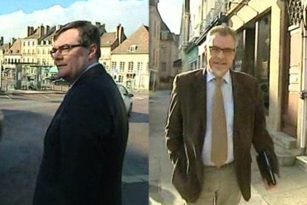 Rémy Rebeyrotte et Jean-François Nicolas sont tous les deux candidats de gauche aux municipales 2014 à Autun.