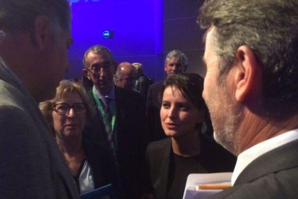 Une Ministre bien entourée... entre Geneviève Fioraso et Jean Therme